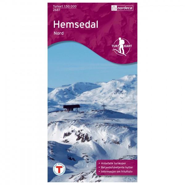 Nordeca - Wander-Outdoorkarte: Hemsedal Nord 1/50 - Vandrekort