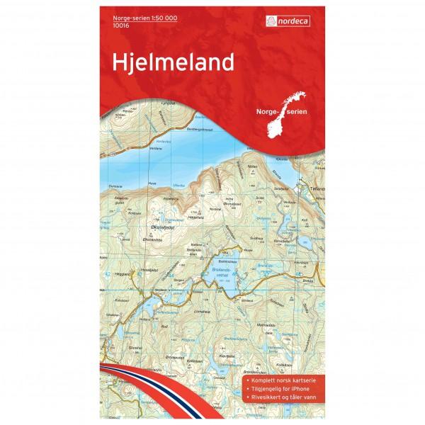 Nordeca - Wander-Outdoorkarte: Hjelmeland 1/50 - Wandelkaart