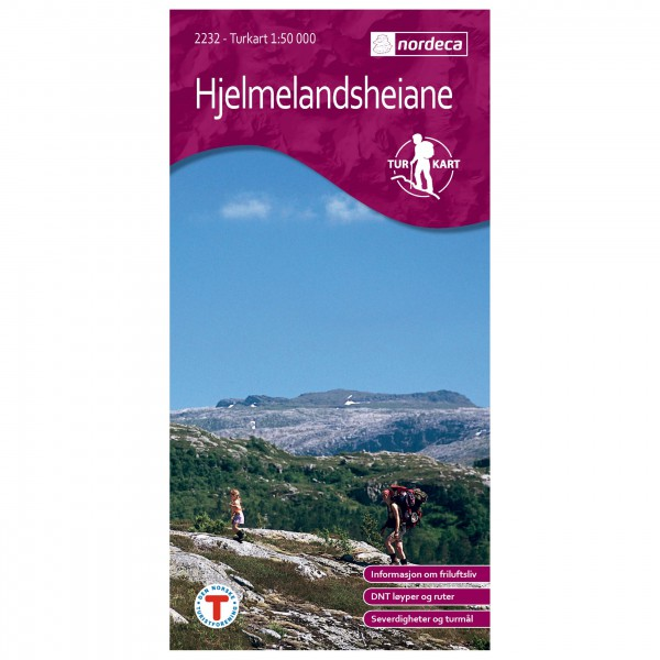 Nordeca - Wander-Outdoorkarte: Hjelmelandsheiane 1/50 - Hiking map