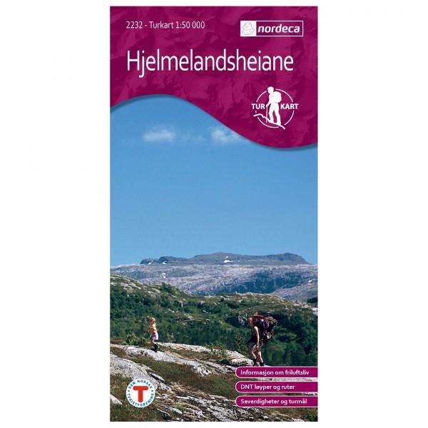 Nordeca - Wander-Outdoorkarte: Hjelmelandsheiane 1/50 - Vaelluskartat