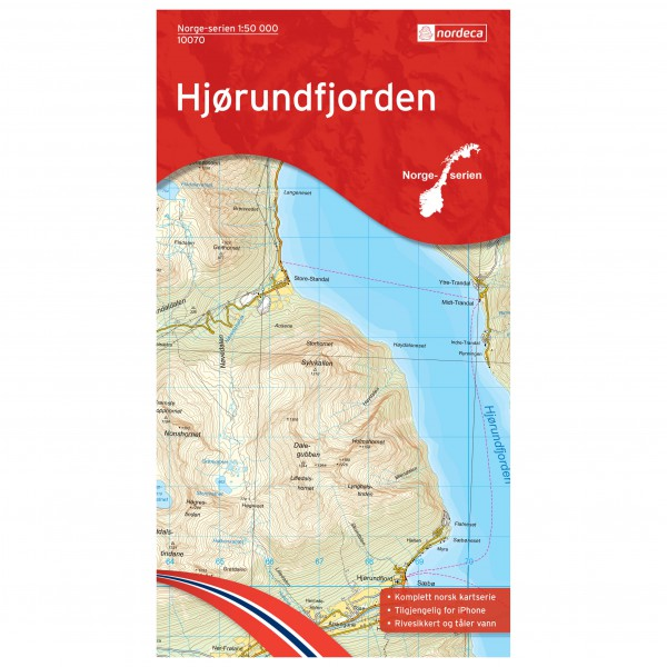 Nordeca - Wander-Outdoorkarte: Hjørundfjorden 1/50 - Hiking map