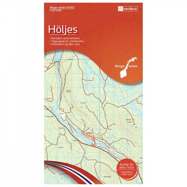 Nordeca - Wander-Outdoorkarte: Höljes 1/50 - Hiking map