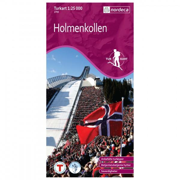 Nordeca - Wander-Outdoorkarte: Holmenkollen 1/25 - Vaelluskartat