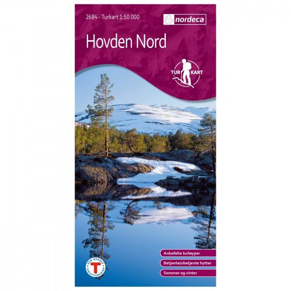 Nordeca - Wander-Outdoorkarte: Hovden Nord 1/50 - Turkart