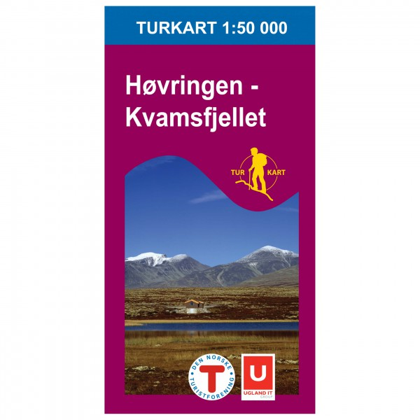 Nordeca - Wander-Outdoorkarte: Høvringen Kvamsfjellet 1/50 - Hiking map