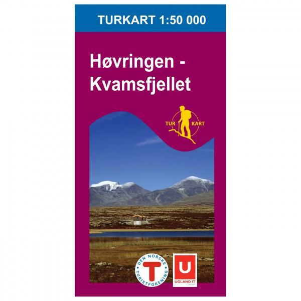 Nordeca - Wander-Outdoorkarte: Høvringen Kvamsfjellet 1/50 - Wandelkaarten