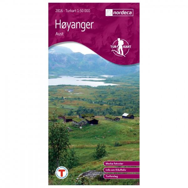 Nordeca - Wander-Outdoorkarte: Høyanger Aust 1/50 - Vandrekort