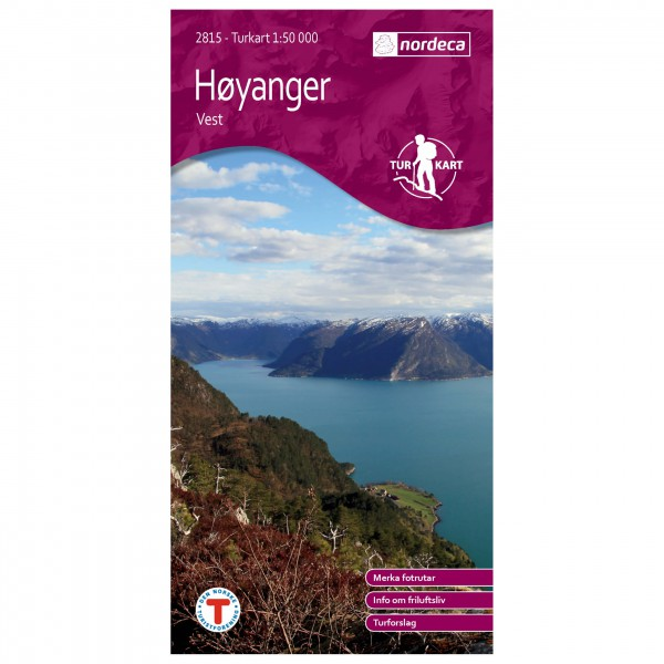 Nordeca - Wander-Outdoorkarte: Høyanger Vest 1/50 - Wandelkaarten