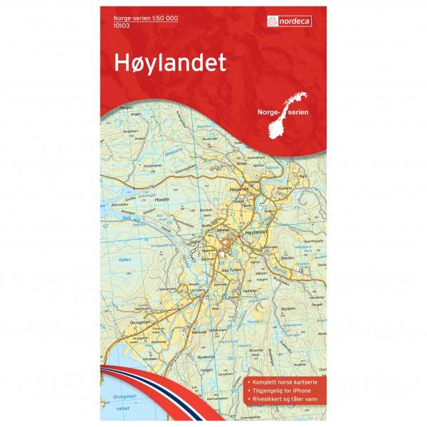 Nordeca - Wander-Outdoorkarte: Hoylandet 1/50 - Wanderkarte