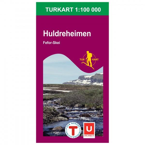 Nordeca - Wander-Outdoorkarte: Huldreheimen 1/100 - Vandrekort