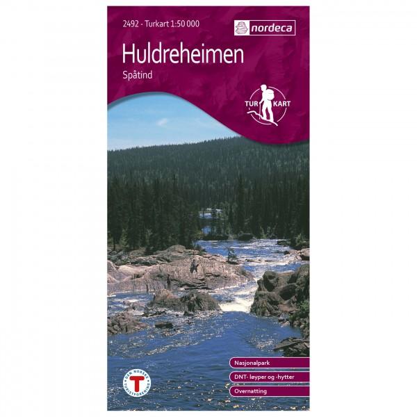 Nordeca - Wander-Outdoorkarte: Huldreheimen 1/50 - Turkart