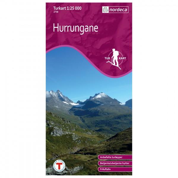 Nordeca - Wander-Outdoorkarte: Hurrungane 1/25 - Wandelkaarten