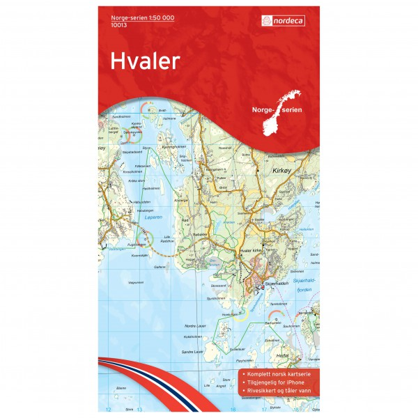 Nordeca - Wander-Outdoorkarte: Hvaler 1/50 - Vandrekort
