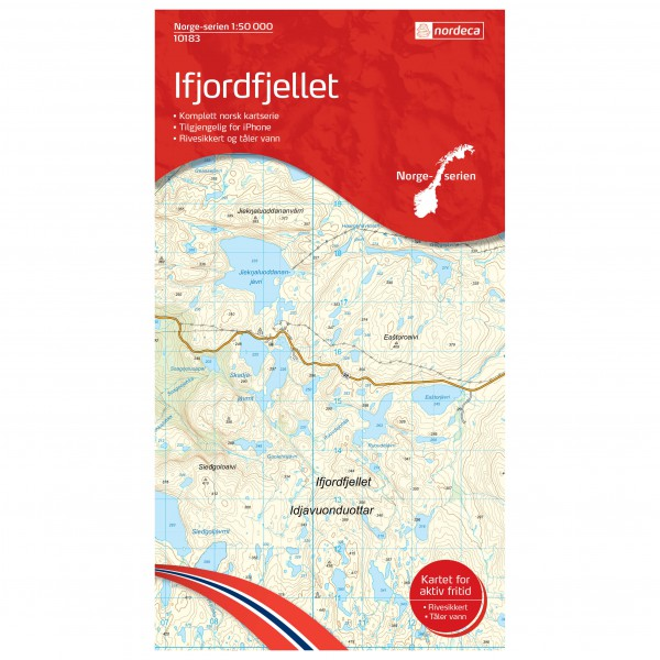 Nordeca - Wander-Outdoorkarte: Ifjordfjellet 1/50 - Vaelluskartat