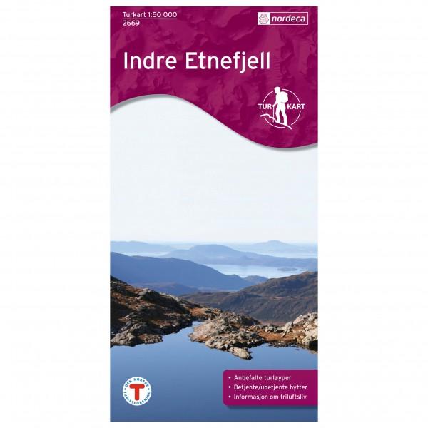 Nordeca - Wander-Outdoorkarte: Indre Etnefjell 1/50 - Vandrekort