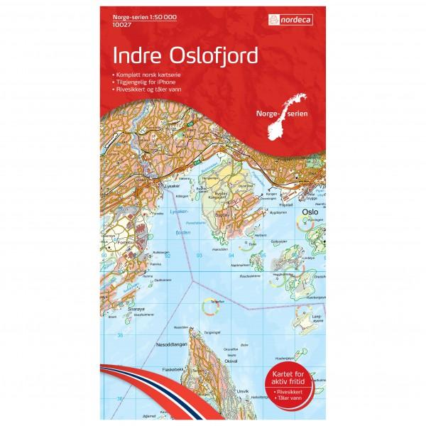 Nordeca - Wander-Outdoorkarte: Indre Oslofjord 1/50 - Vaelluskartat