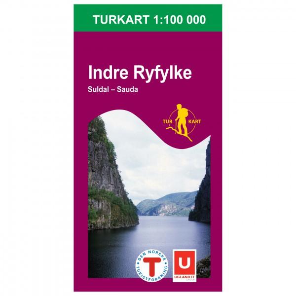 Nordeca - Wander-Outdoorkarte: Indre Ryfylke 1/100 - Hiking map