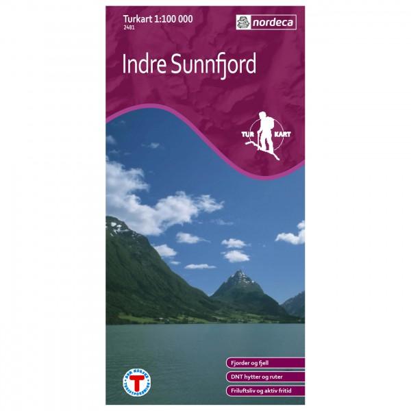 Nordeca - Wander-Outdoorkarte: Indre Sunnfjord 1/100 - Wanderkarte