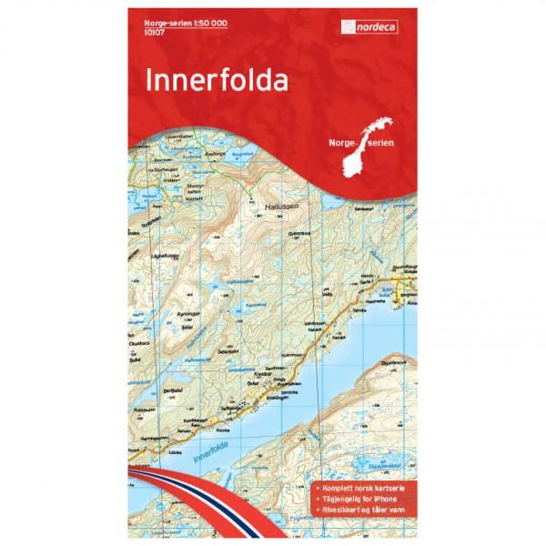 Nordeca - Wander-Outdoorkarte: Innerfolda 1/50 - Vaelluskartat