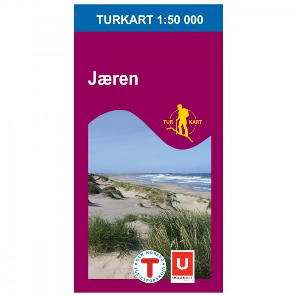 Nordeca - Wander-Outdoorkarte: Jæren 1/50 - Wandelkaarten