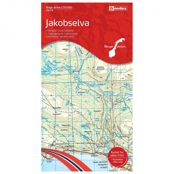 Nordeca - Wander-Outdoorkarte: Jakobselva 1/50 - Vandringskartor