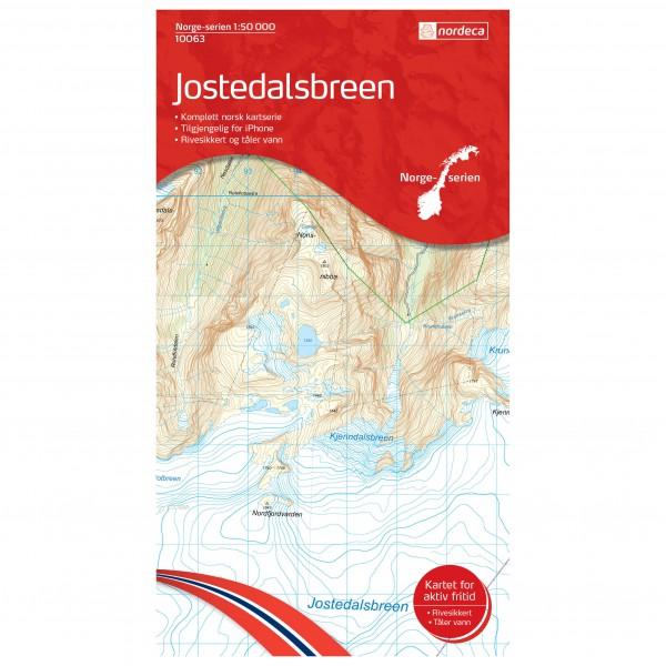 Nordeca - Wander-Outdoorkarte: Jostedalsbreen 1/50 - Wanderkarte