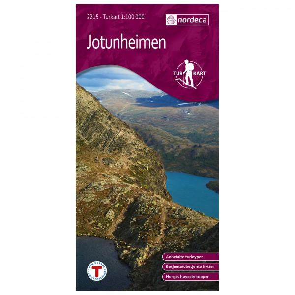 Nordeca - Wander-Outdoorkarte: Jotunheimen 1/100 - Hiking map