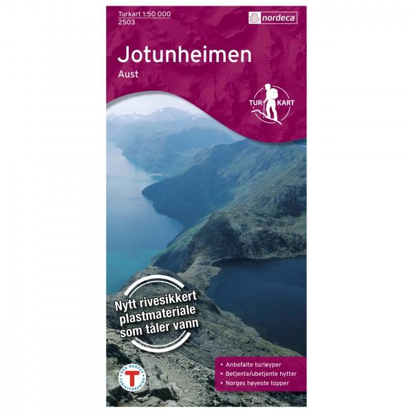Nordeca - Wander-Outdoorkarte: Jotunheimen Aust 1/50 - Wandelkaart