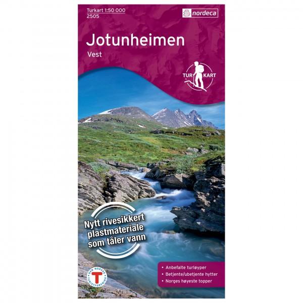 Nordeca - Wander-Outdoorkarte: Jotunheimen Vest 1/50 - Vandringskartor