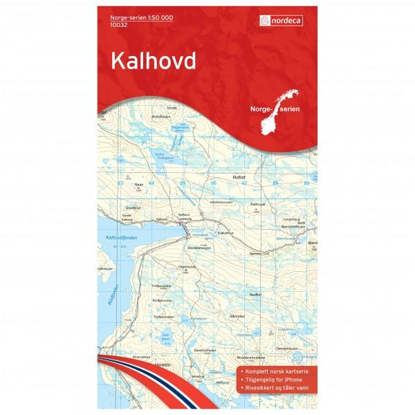 Nordeca - Wander-Outdoorkarte: Kalhovd 1/50 - Vandringskartor