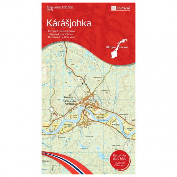 Nordeca - Wander-Outdoorkarte: Karasjohka 1/50 - Vandrekort