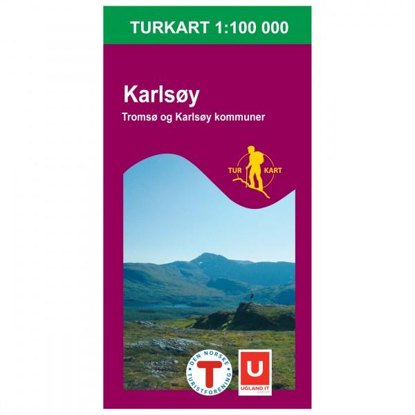 Nordeca - Wander-Outdoorkarte: Karlsøy 1/100 - Vandringskartor
