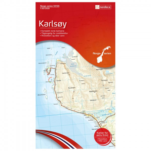 Nordeca - Wander-Outdoorkarte: Karlsoy 1/50 - Wandelkaart