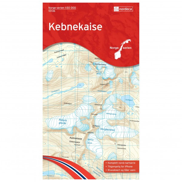Nordeca - Wander-Outdoorkarte: Kebnekaise 1/50 - Hiking map