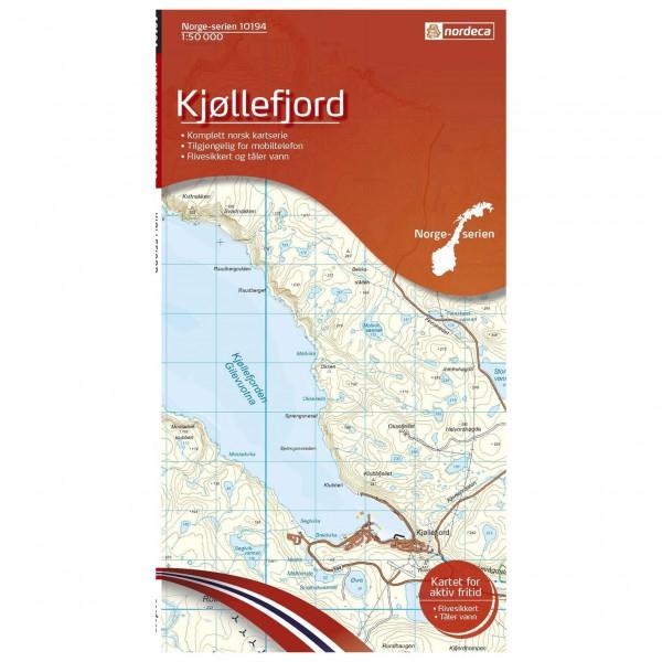 Nordeca - Wander-Outdoorkarte: Kjøllefjord 1/50 - Carte de randonnée