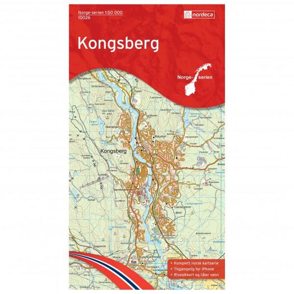 Nordeca - Wander-Outdoorkarte: Kongsberg 1/50 - Vaelluskartat