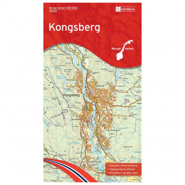 Nordeca - Wander-Outdoorkarte: Kongsberg 1/50 - Wandelkaart
