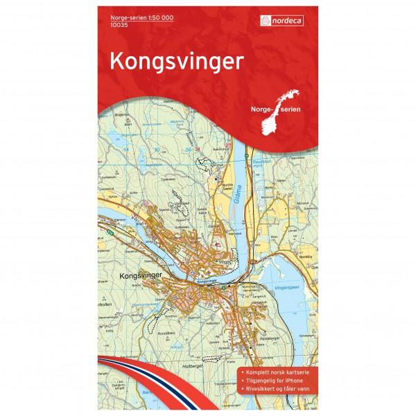 Wander-Outdoorkarte: Kongsvinger 1/50 - Hiking map