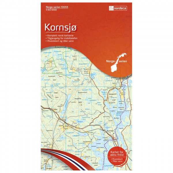 Nordeca - Wander-Outdoorkarte: Kornsjø 1/50 - Hiking map