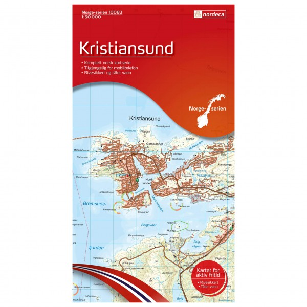 Nordeca - Wander-Outdoorkarte: Kristiansund 1/50 - Vandrekort
