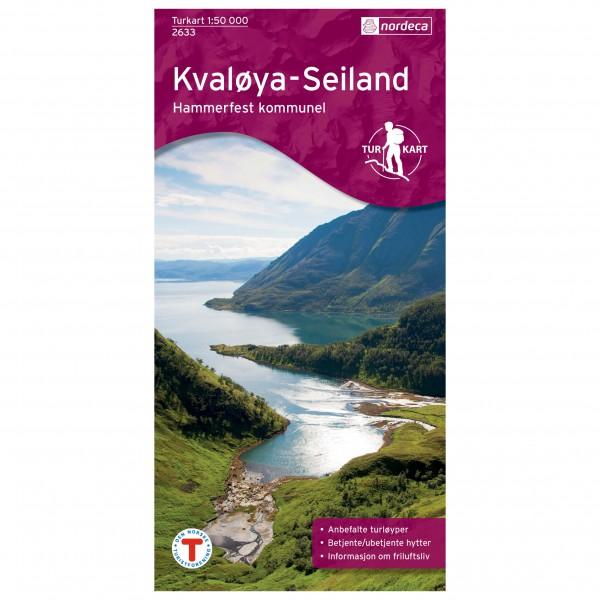 Nordeca - Wander-Outdoorkarte: Kvaløya - Seiland 1/50 - Mapa de senderos