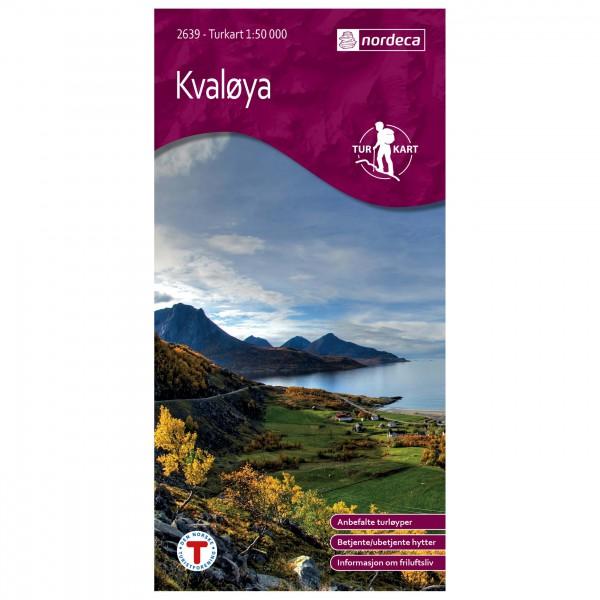 Nordeca - Wander-Outdoorkarte: Kvaløya 1/50 - Wandelkaart