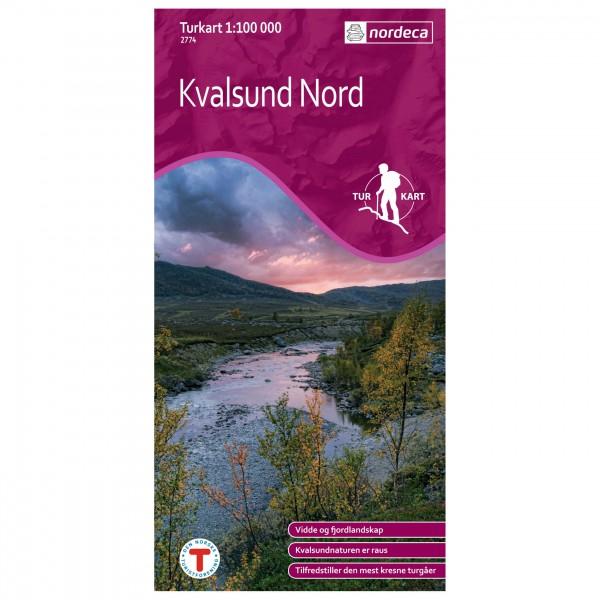 Nordeca - Wander-Outdoorkarte: Kvalsund Nord 1/100 - Hiking map