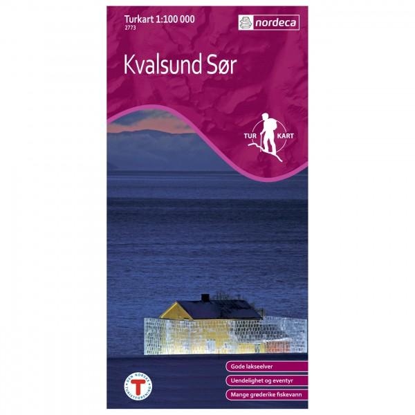 Nordeca - Wander-Outdoorkarte: Kvalsund Sør 1/100 - Hiking map