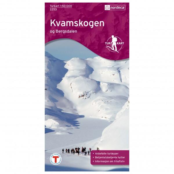Nordeca - Wander-Outdoorkarte: Kvamskogen Bergsdalen 1/50 - Vaelluskartat