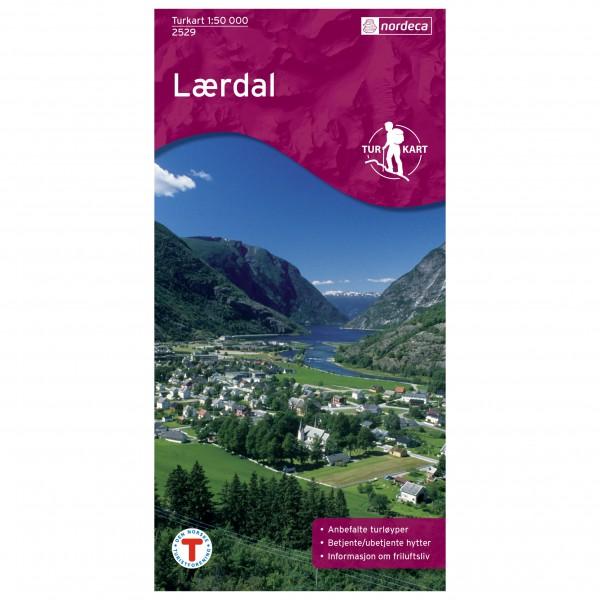 Nordeca - Wander-Outdoorkarte: Lærdal 1/50 - Vaelluskartat