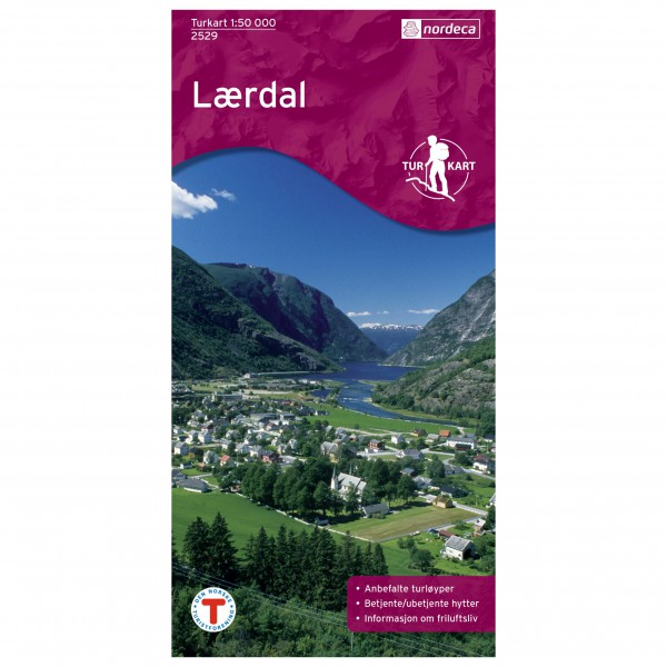 Nordeca - Wander-Outdoorkarte: Lærdal 1/50 - Vandringskartor