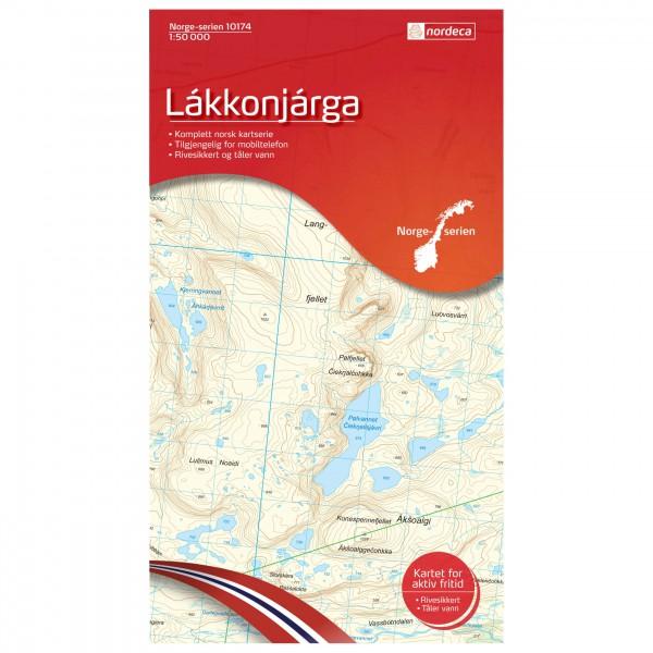 Nordeca - Wander-Outdoorkarte: Lakkonjarga 1/50 - Wanderkarte