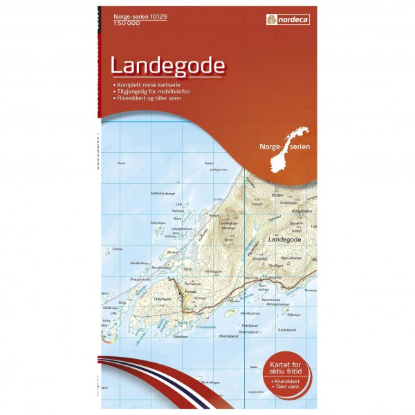 Nordeca - Wander-Outdoorkarte: Landegode 1/50 - Hiking map