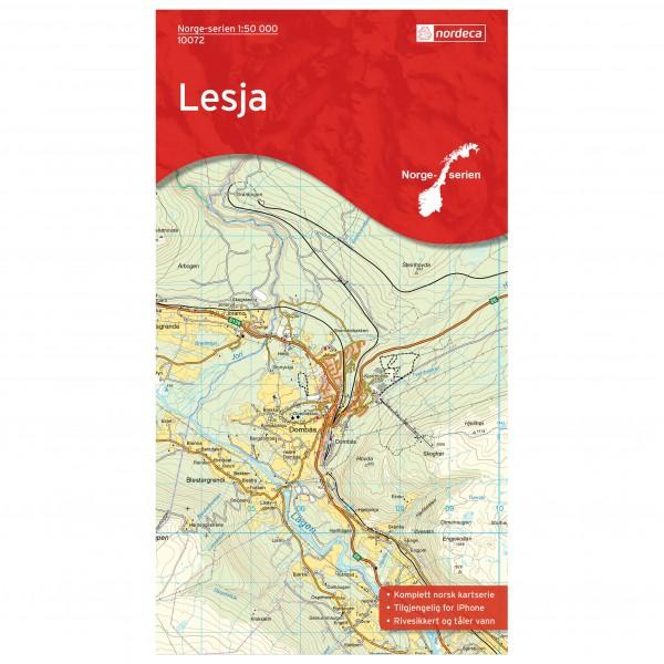 Nordeca - Wander-Outdoorkarte: Lesja 1/50
